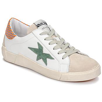 Scarpe Donna Sneakers basse Meline NK1364 Bianco / Verde