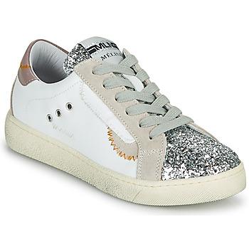 Scarpe Donna Sneakers basse Meline CAR139 Bianco / Glitter