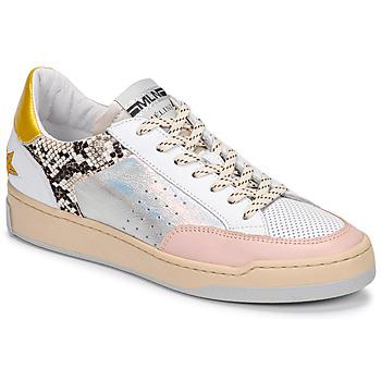 Scarpe Donna Sneakers basse Meline BZ180 Bianco / Rosa