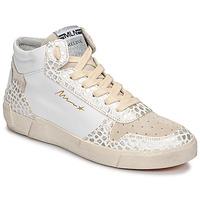 Scarpe Donna Sneakers alte Meline NK1409 Bianco / Coccodrillo