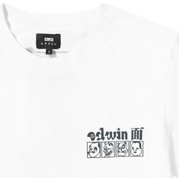 Abbigliamento Uomo T-shirt maniche corte Edwin T-shirt  Hokusai Noh Masks blanc/noir
