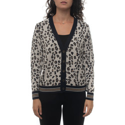 Abbigliamento Donna Gilet / Cardigan Maria Bellentani 2053-5091020 Beige-blu