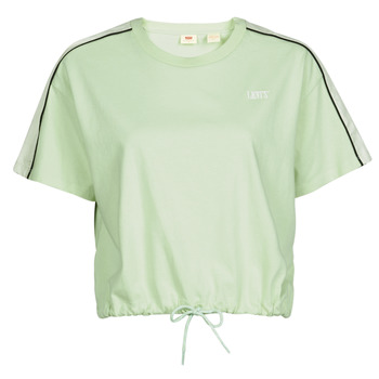 Abbigliamento Donna T-shirt maniche corte Levi's GINGER NYLON PIECED TEE BOK CHOY, TOFU & CAVIAR Bianco