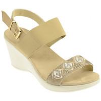 Scarpe Donna Sneakers alte Imac 107951 CASTORO BEIGE Zeppa beige