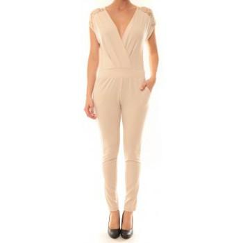 Abbigliamento Donna Tuta jumpsuit / Salopette La Vitrine De La Mode Combinaison 155 By La Vitrine Beige Beige