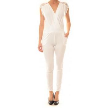 Abbigliamento Donna Tuta jumpsuit / Salopette La Vitrine De La Mode Combinaison 155 By La Vitrine Blanche Bianco