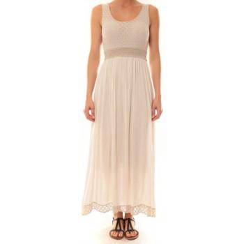Abbigliamento Donna Abiti lunghi La Vitrine De La Mode Robe Z1392 By La Vitrine Beige Beige