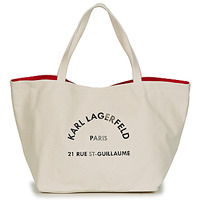 Borse Donna Tote bag / Borsa shopping Karl Lagerfeld RUE ST GUILLAUE CANVAS TOTE Ecru