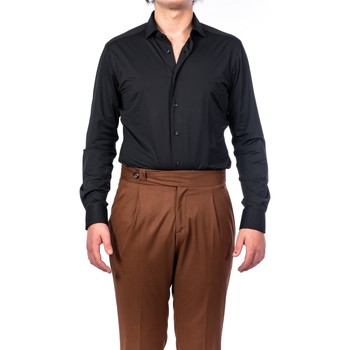 Abbigliamento Uomo Camicie maniche lunghe Xacus 11460.004/558 NERO Camicia Uomo Uomo Nero Nero