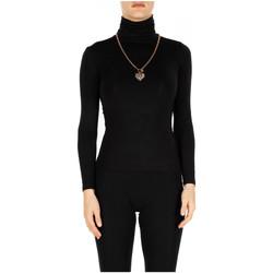 Abbigliamento Donna T-shirts a maniche lunghe Luckylu T-SHIRT ML COLLO ALTO 0700-nero