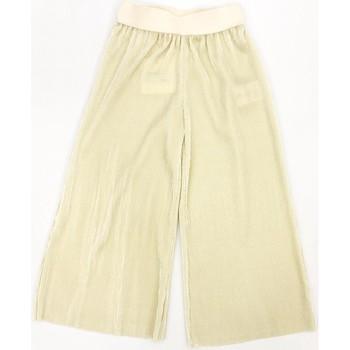 Abbigliamento Bambina Pantaloni morbidi / Pantaloni alla zuava Vicolo 3146P0134 Pantalone Bambina Platino Platino