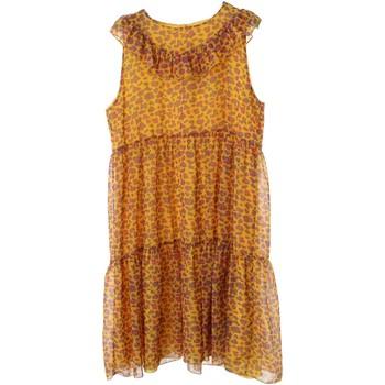 Abbigliamento Bambina Abiti corti Vicolo 3146V0171 Vestito Bambina Giallo/fuscia Giallo/fuscia