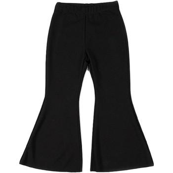 Abbigliamento Bambina Pantaloni morbidi / Pantaloni alla zuava Vicolo 3146P0059 Pantalone Bambina Nero Nero