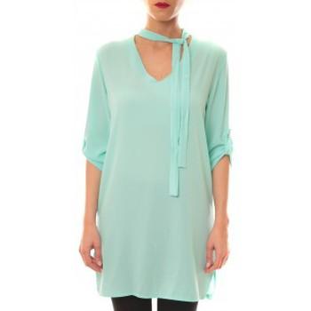 Abbigliamento Donna Abiti corti La Vitrine De La Mode Robe 156 By La Vitrine Aqua Blu