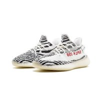 Scarpe Sneakers basse adidas Originals Yeezy Boost 350 V2 Zebra Ftwr White/Core Black/Red
