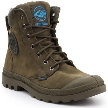 Scarpe Sneakers alte Palladium Manufacture Pampa Cuff WP LUX 73231309 oliwkowozielony
