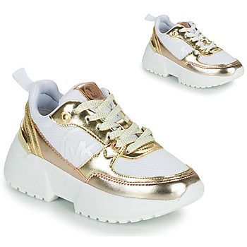 Scarpe Bambina Sneakers basse MICHAEL Michael Kors COSMO SPORT Bianco / Oro