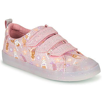 Scarpe Bambina Sneakers basse Clarks FOXING PRINT T Rosa