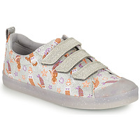 Scarpe Bambina Sneakers basse Clarks FOXING PRINT T Argento