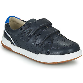 Scarpe Unisex bambino Sneakers basse Clarks FAWN SOLO K Marine