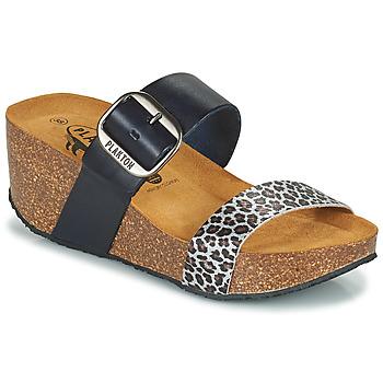 Scarpe Donna Ciabatte Plakton SO ROCK Blu / Leopard