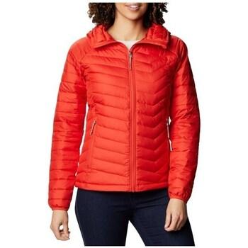 Abbigliamento Donna Giacche Columbia WM Powder Lite Hooded Jacket Rosso