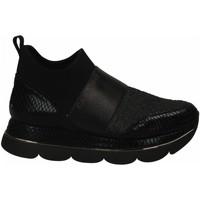 Scarpe Donna Sneakers basse Café Noir SLIP-ON MULTIMATERIALE ALLA CAVIGLIA 010-nero