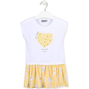 Abbigliamento Bambina Abiti corti Losan 016-7021AL Bianco