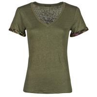Abbigliamento Donna T-shirt maniche corte Ikks BS10255-56 Kaki