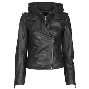 Abbigliamento Donna Giacca in cuoio / simil cuoio Ikks BS48015-02 Nero