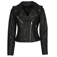Abbigliamento Donna Giacca in cuoio / simil cuoio Ikks BQ48045-02 Nero
