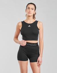 Abbigliamento Donna Reggiseno sportivo adidas Performance W 3S CRO Nero