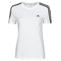 Abbigliamento Donna T-shirt maniche corte adidas Performance W 3S T Bianco