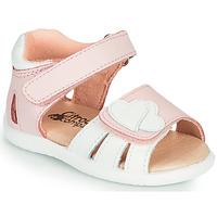 Scarpe Bambina Sandali Citrouille et Compagnie OLESS Rosa / Bianco