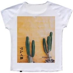 Abbigliamento Donna T-shirt maniche corte Ko Samui Tailors Mexico Back Silk T-Shirt Bianco  KSUTZ 844 MEX Bianco