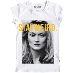 Abbigliamento Donna T-shirt maniche corte Ko Samui Tailors Meryl Black And White T-Shirt Bianco  KSUTB 89 Bianco