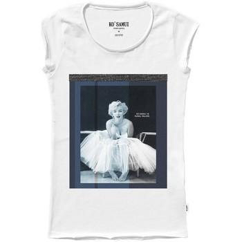 Abbigliamento Donna T-shirt maniche corte Ko Samui Tailors Marilyn Monroe Shine T-Shirt Bianco  KSUTA 520 Bianco