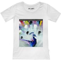 Abbigliamento Donna T-shirt maniche corte Ko Samui Tailors Shine Plumage T-Shirt Bianco  KSUTF C14 PLUMA Bianco