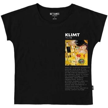 Abbigliamento Donna T-shirt maniche corte Ko Samui Tailors Art Symbolist T-Shirt Nero  KSUTE C38 SYMBOLI Nero