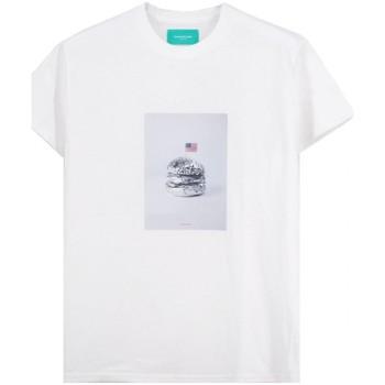 Abbigliamento Uomo T-shirt maniche corte Backsideclub T-Shirt Silver Bianco  BSCTH 118 SILVER W Bianco