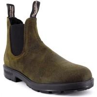 Scarpe Uomo Stivaletti Blundstone 1615 El Side Boot Suede Verde  BSTBCCAL0418 Verde
