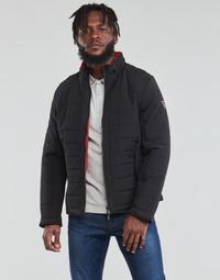 Abbigliamento Uomo Piumini Guess  Nero / Arancio