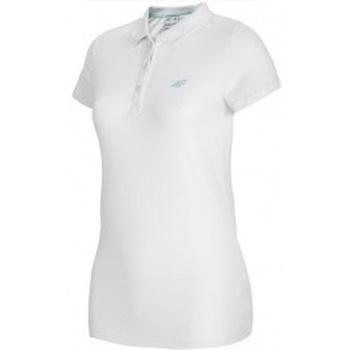 Abbigliamento Donna Polo maniche corte 4F Womens Polo bianco