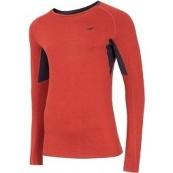 Abbigliamento Uomo Felpe 4F Mens Functional Longsleeve rosso