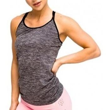 Abbigliamento Donna Top / T-shirt senza maniche Gymhero L.A Classic Basic Tee grigio