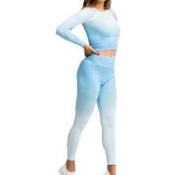 Abbigliamento Donna Tuta Gymhero Ombre Rushguard Longsleeve blu