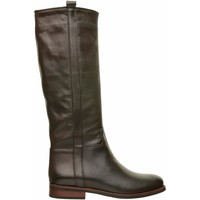 Scarpe Donna Stivali Lady Shoes Stivale In Pelle Marrone