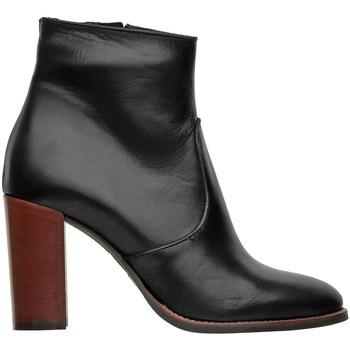 Scarpe Donna Stivaletti Lady Shoes Stivaletto In Pelle Nero