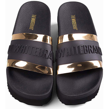 Scarpe Donna Sneakers Thewhitebrand High twb relief gold Nero