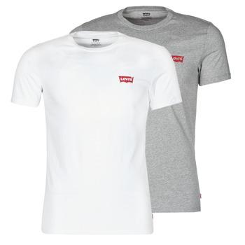 Abbigliamento Uomo T-shirt maniche corte Levi's 2PK CREWNECK GRAPHIC Bianco